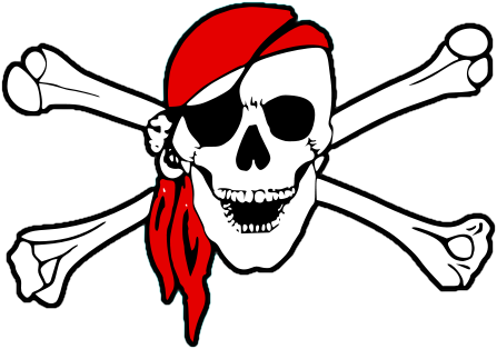 pirate skull and crossbones clipart rh worldartsme com pirate skull and bones clip art Pirate Flag Clip Art