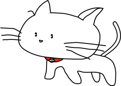 White Cartoon Cat clip art - Download free Animal vectors