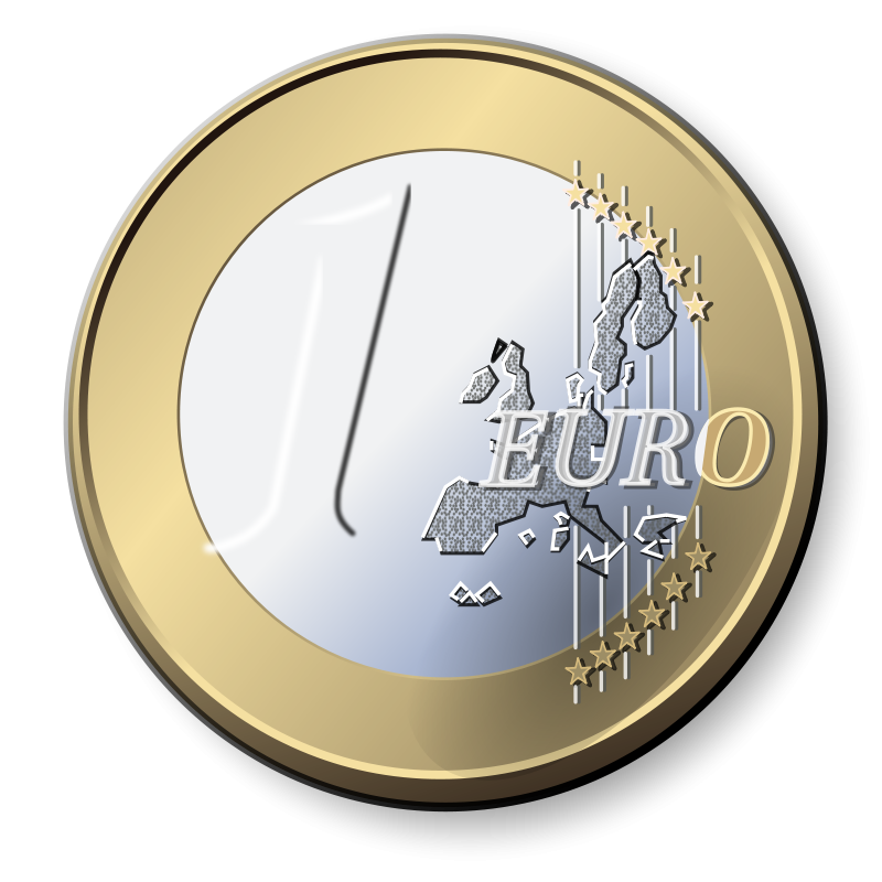 One Euro Coin Clip Art Download