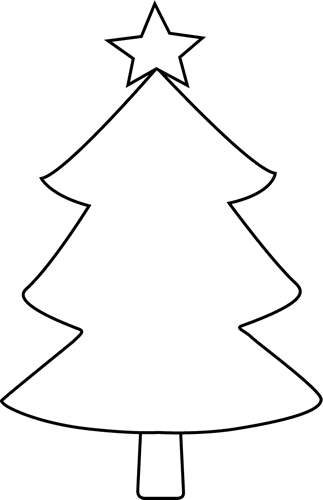 Christmas Tree Black And White Clipart - Cliparts.co