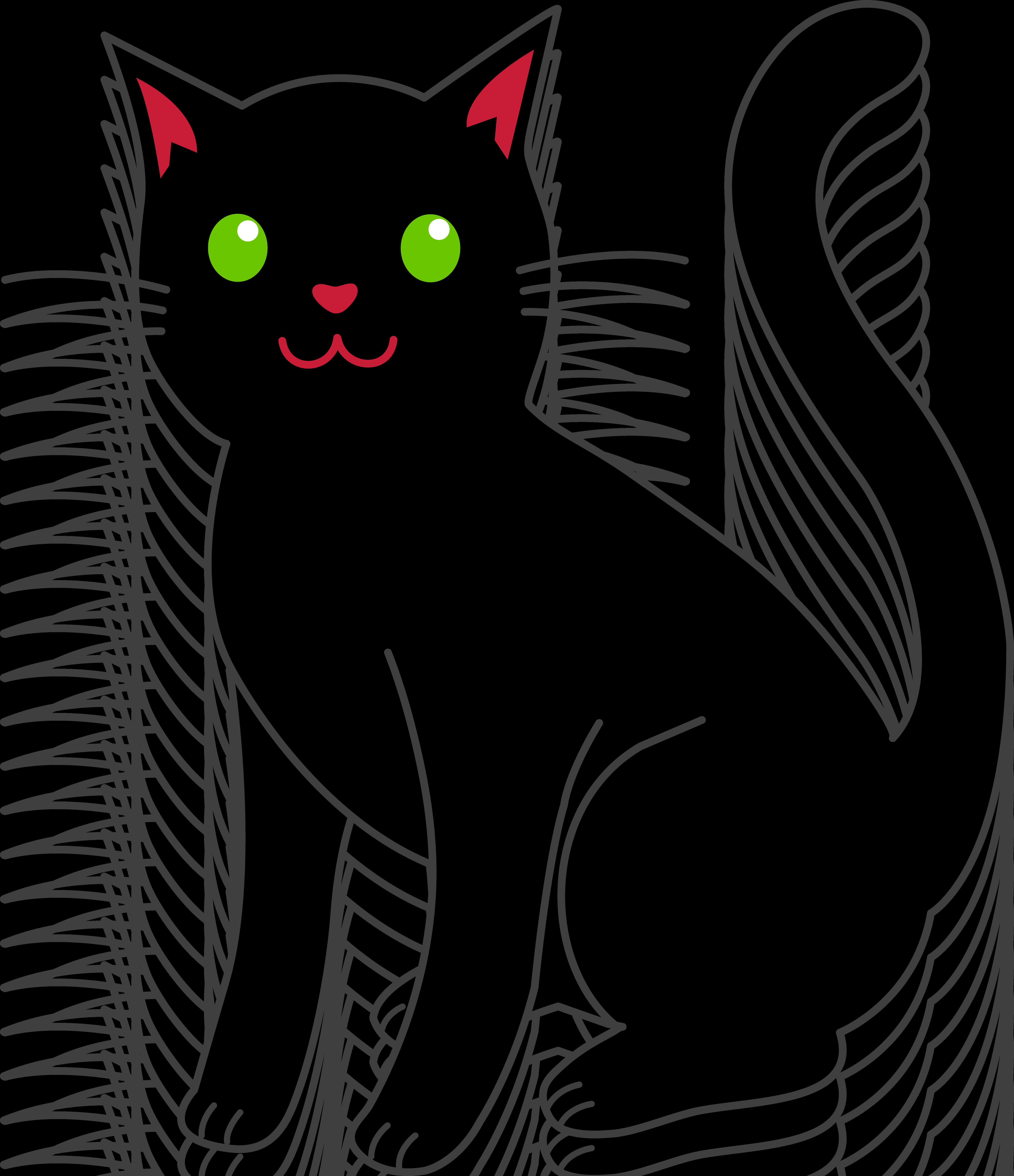 Черный кот фото для детей