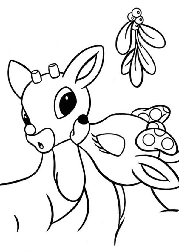 HD wallpapers coloring pages rudolph and clarice