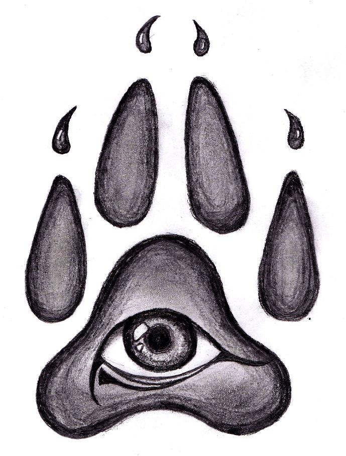 560f75f90 Wolf Pawprint Tattoo Design by pessoadapaz on deviantART