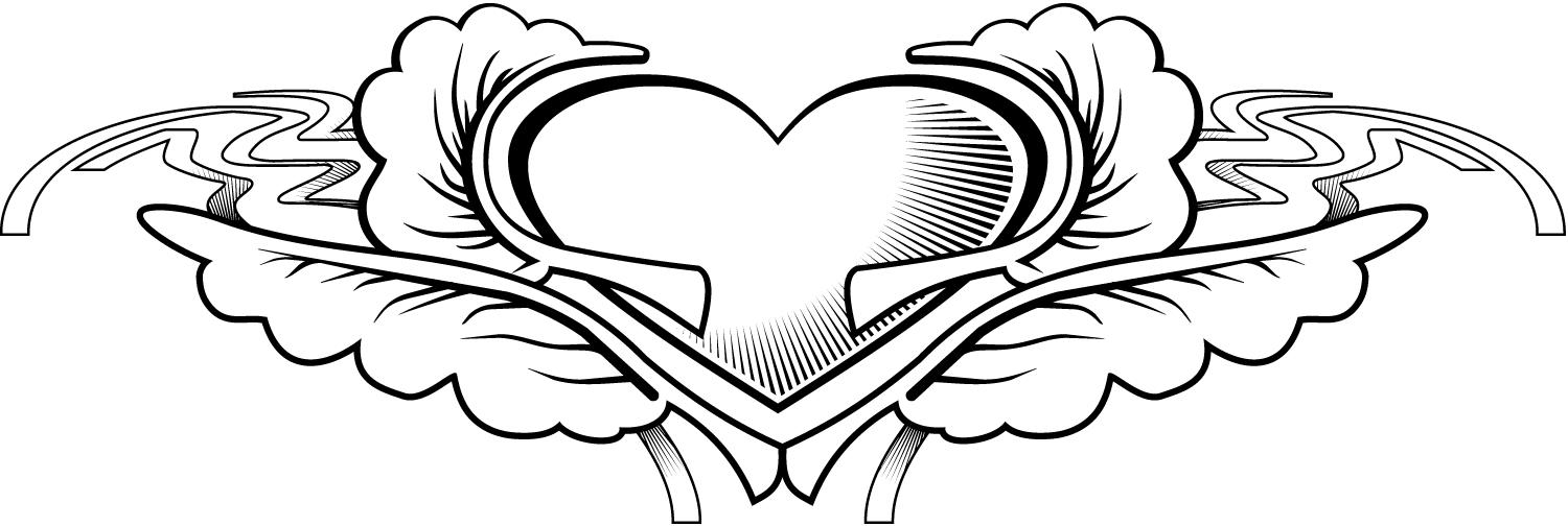 hearts tattoos coloring pages - photo#11