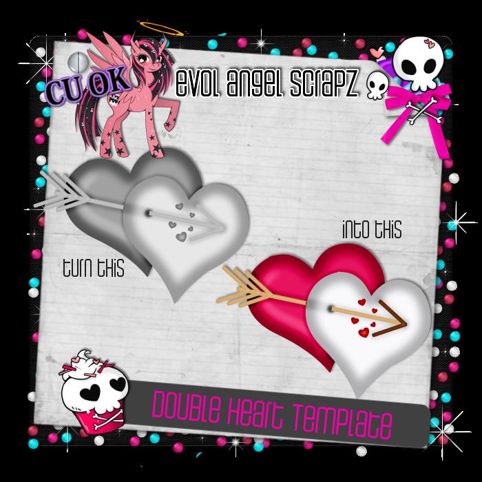 Evolangelscrapz New Double Heart Template