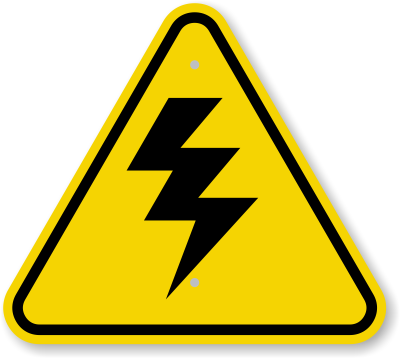 ISO High Voltage Warning Sign Symbol - Fast & Free Shipping, SKU ...
