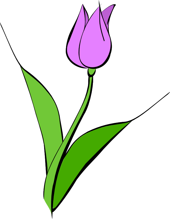 Purple Tulip Clip Art - Noelle Nichols' Blog