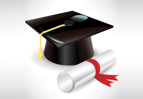 Graduation cap and diploma 2 | Free Vector Graphic Download ...