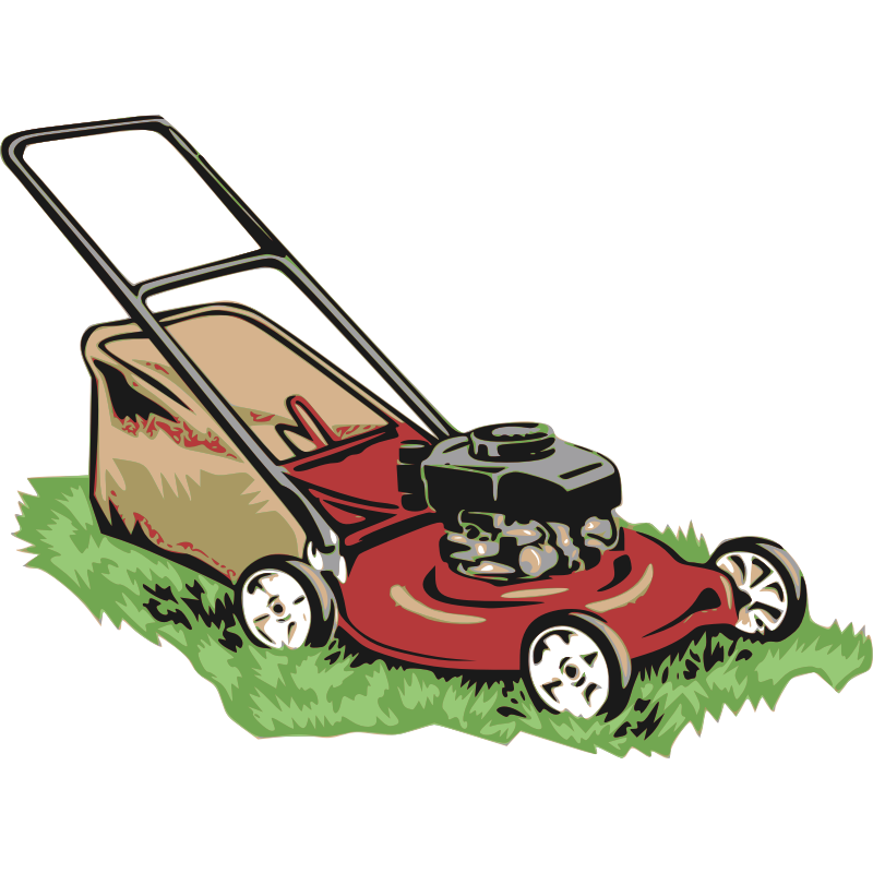 Clipart - Red Lawnmower