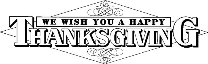 Thanksgiving Day Clip Art Fall Clipart Black And White