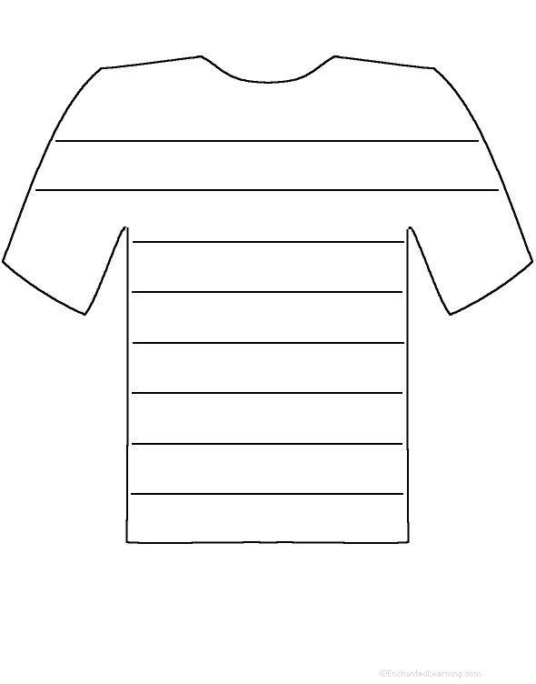 T Shirt Template Printable Cliparts Co