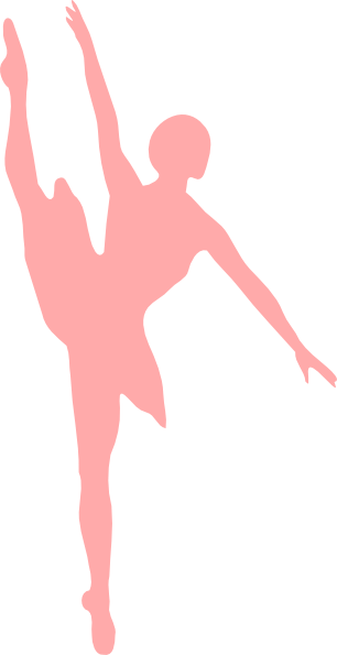 Pink pointe shoes clip art
