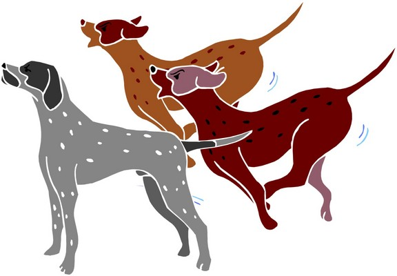 free clipart of dog barking - photo #7