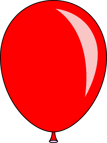 New Red Balloon clip art - vector clip art online, royalty free ...
