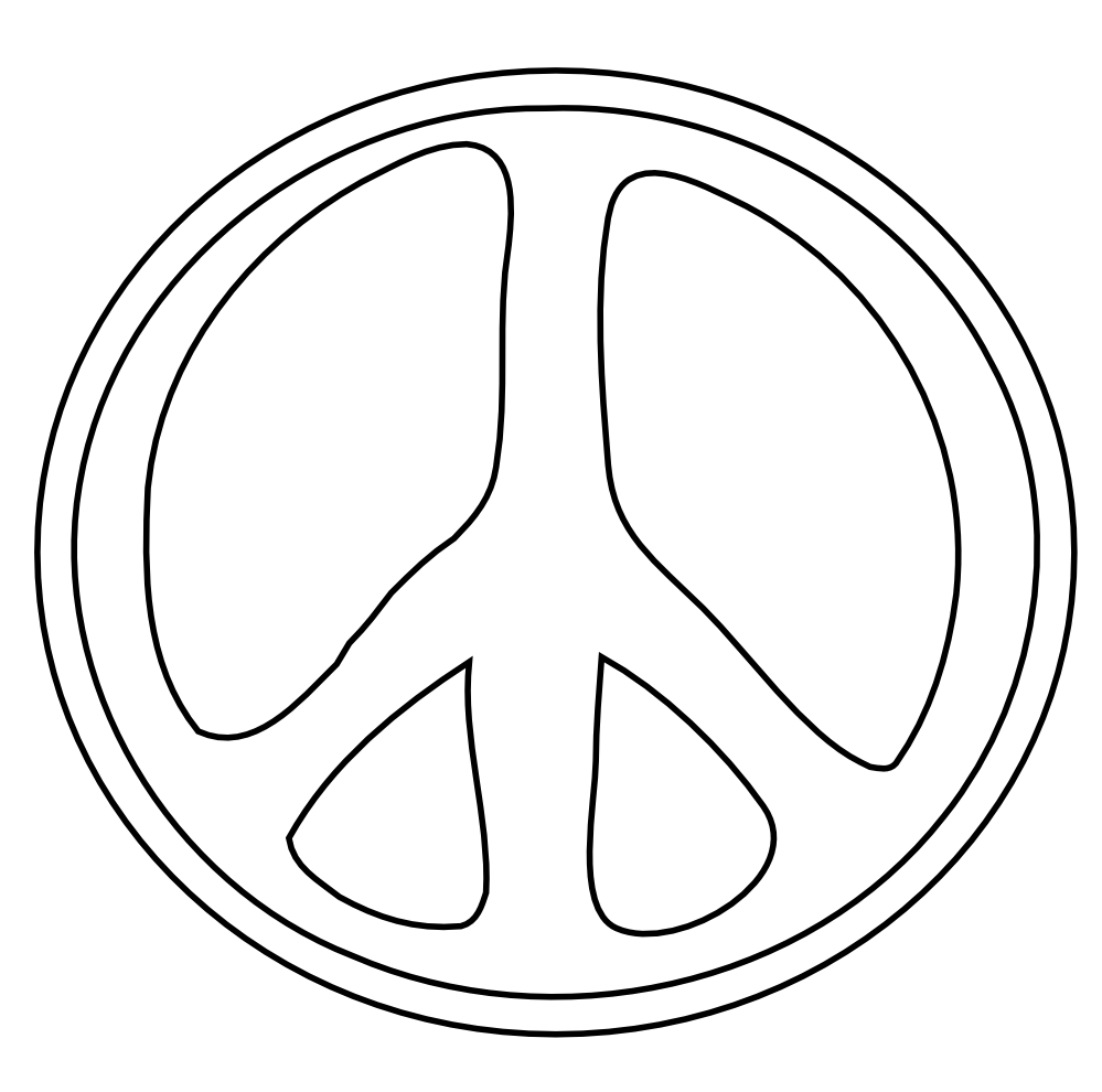 Peace Sign Clipart Black And White Peace Sign 21 Black White Line