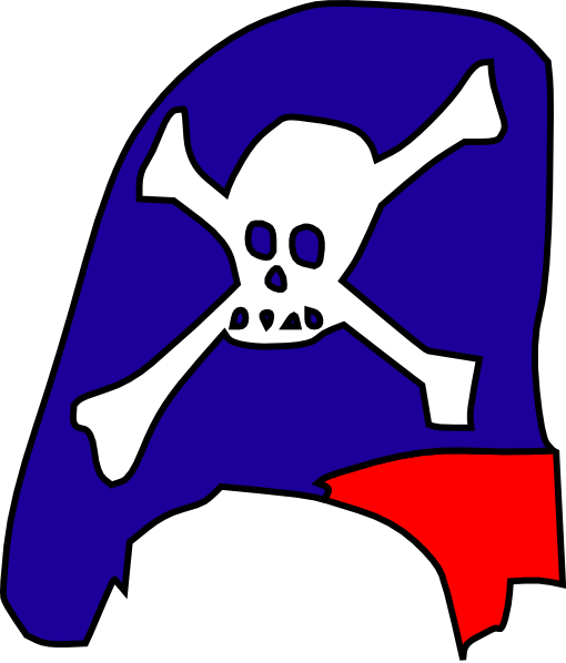 Cartoon Pirate Hat Skull Bones clip art - vector clip art online ...