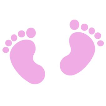 Pink Baby Feet Clip Art
