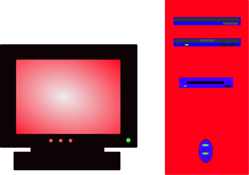clipart computer monitor