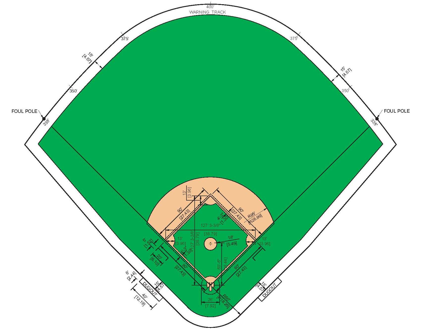 Picture Of A Baseball Field Cliparts Co