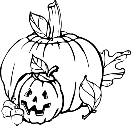 Pumpkins Black And White clip art - Download free Holiday vectors