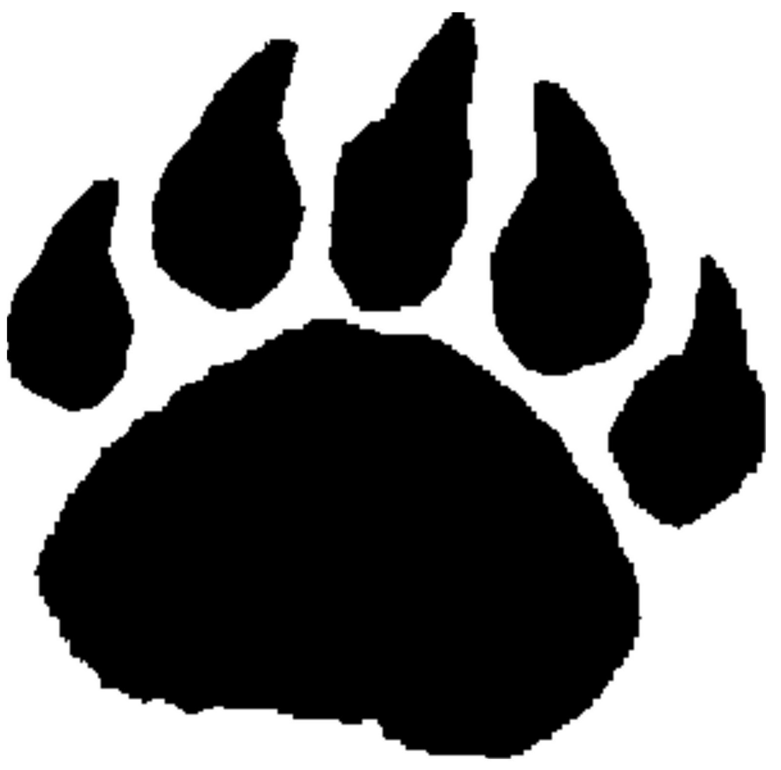 13 paw print pumpkin stencil tiger paw print for Tiger paw template
