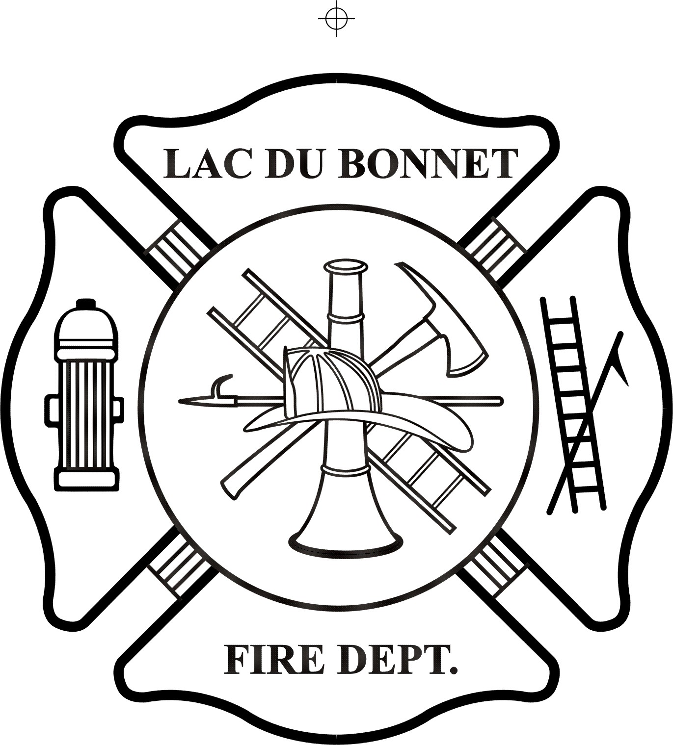 Fire Department Maltese Cross Coloring Page - Part 1 | 1519x1371