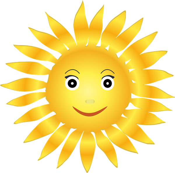 Smiling Sunshine Clipart - Cliparts.co