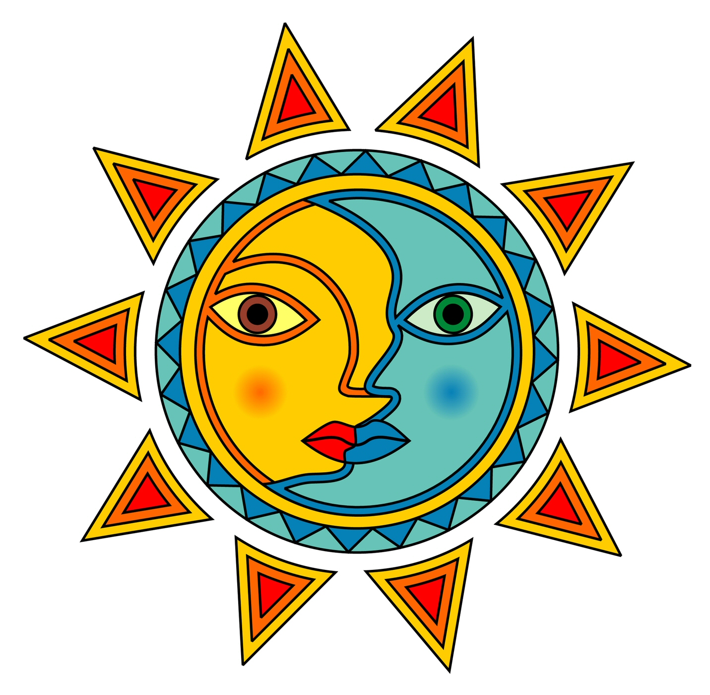 Sun And Moon Clip Art - Cliparts.co