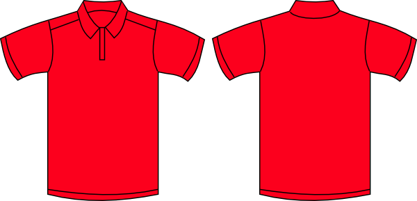 Red Polo Shirt clip art - vector clip art online, royalty free ...