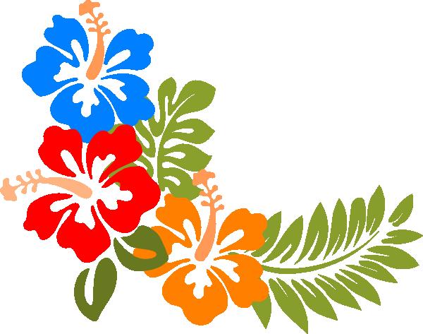 Hibiscus 6 clip art - vector clip art online, royalty free ...