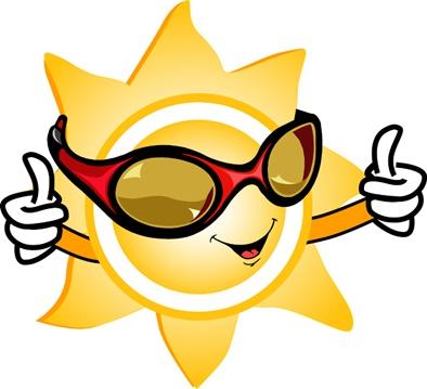 Cartoon Sun With Sunglasses - Cliparts.co