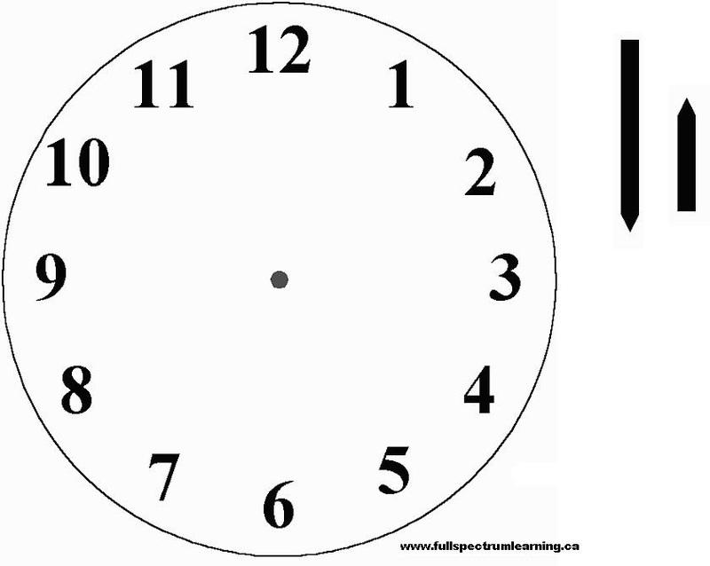 draw a clock kids pdf