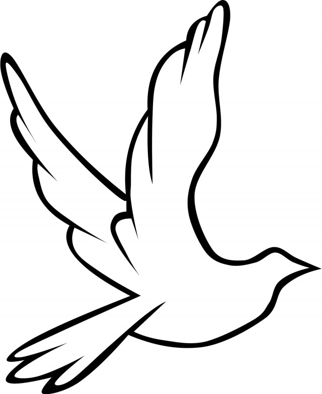 Flying bird outline for Flying crow coloring page
