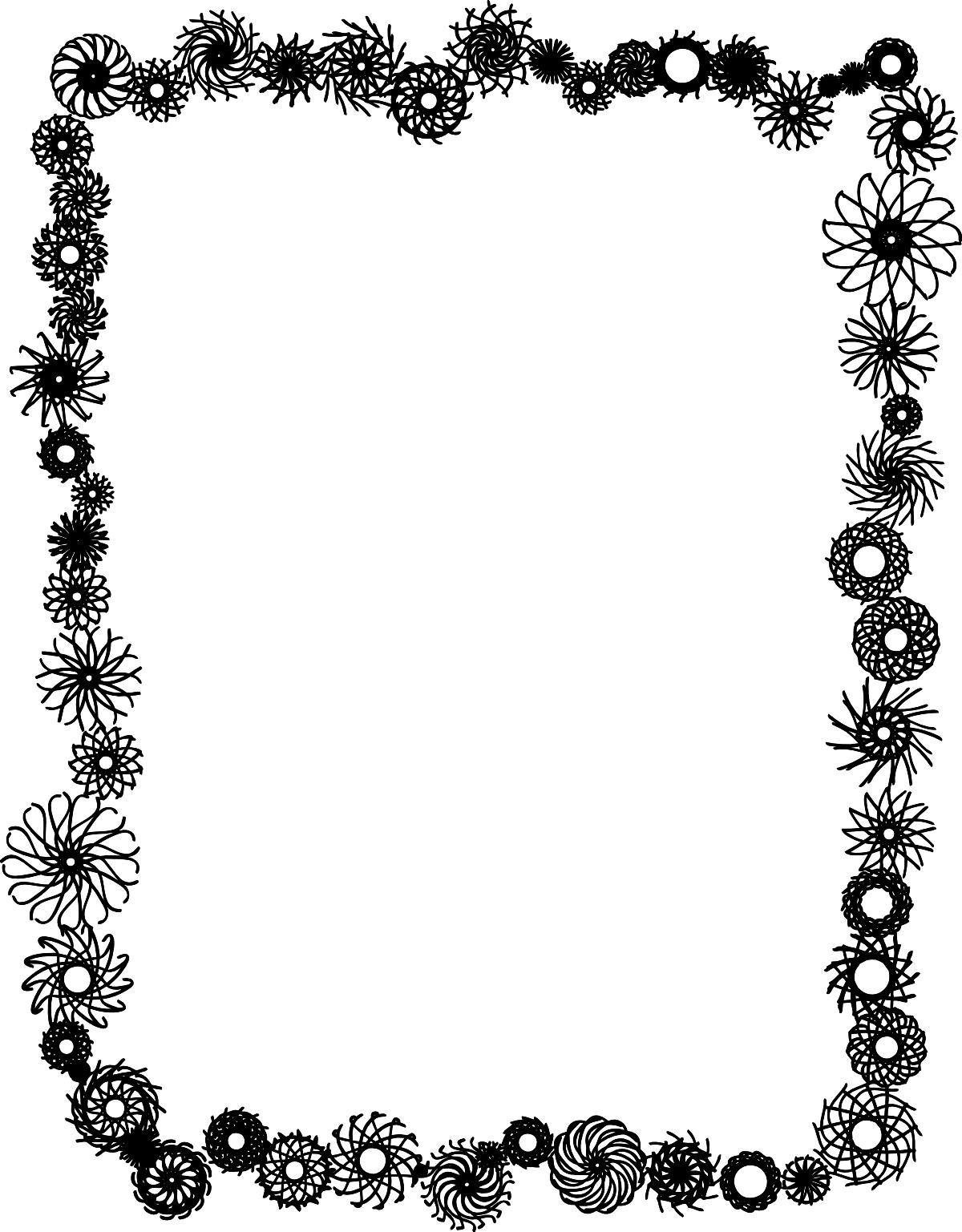 flower frame clip art   cliparts co