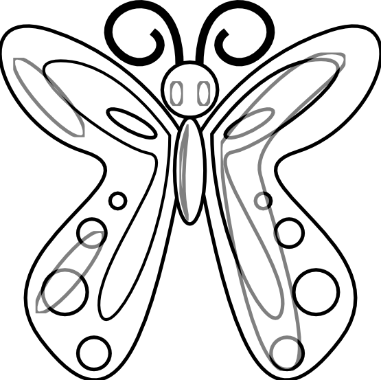 Butterfly 14 Black White Art Flower Bush Peace peacesymbol.org SVG ...