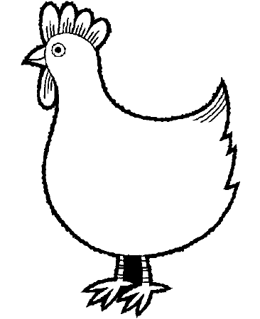 Chickens Colouring Pages- PC Based Colouring Software, thousands ...