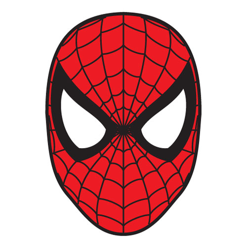 Spiderman Face Logo - Spiderman Mask Clipart