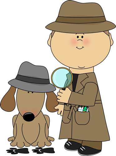 clipart magnifying glass detective - photo #15