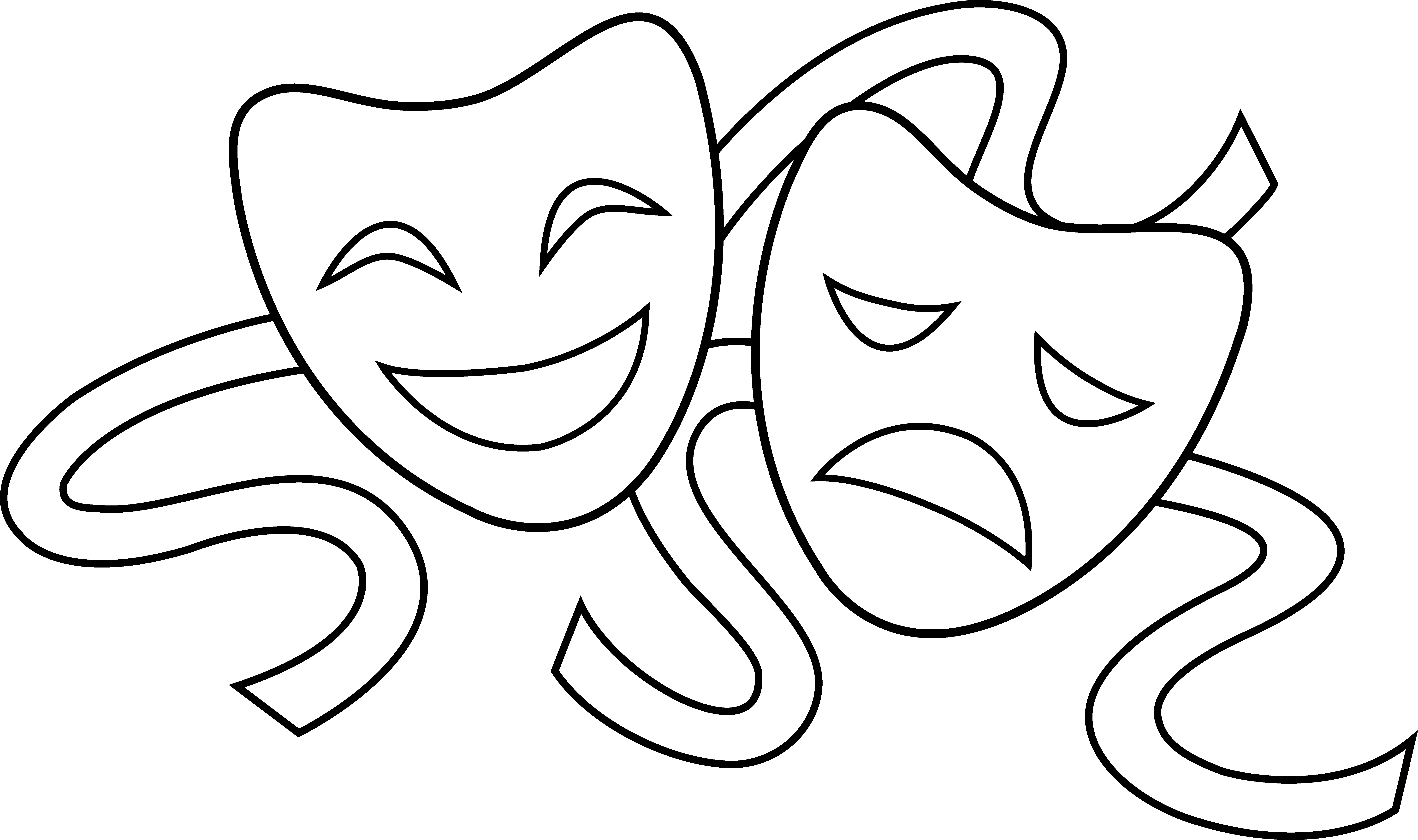 Cartoon Drama Masks - ClipArt Best