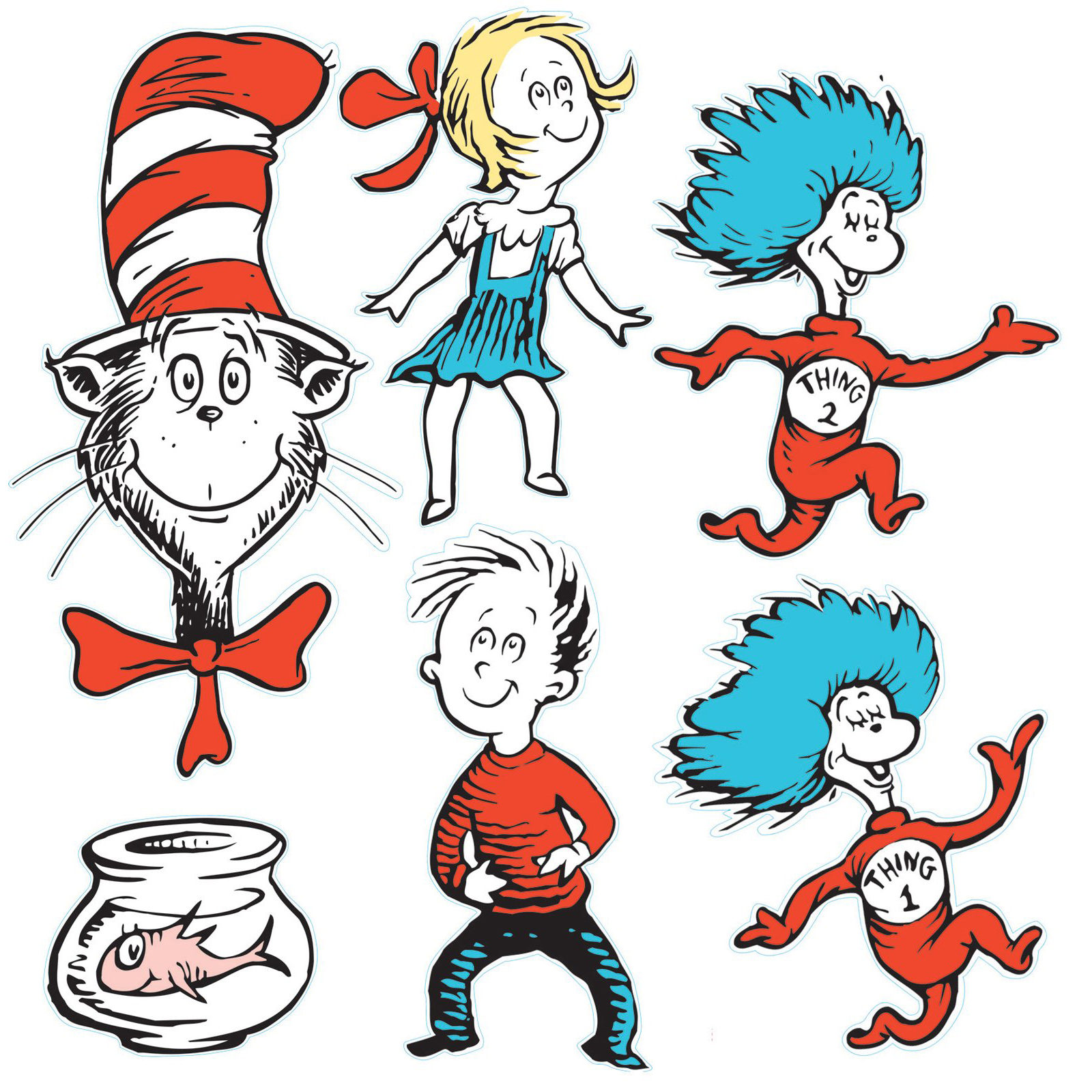 100 ideas Dr Seuss Coloring Pages Thing e And Thing Two on
