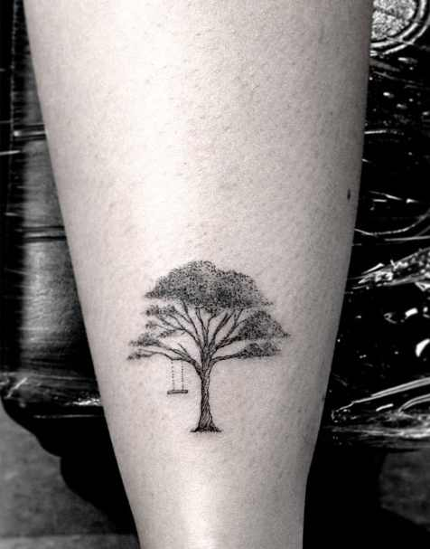 black tree tattoo by Dr Woo - Design of TattoosDesign of Tattoos