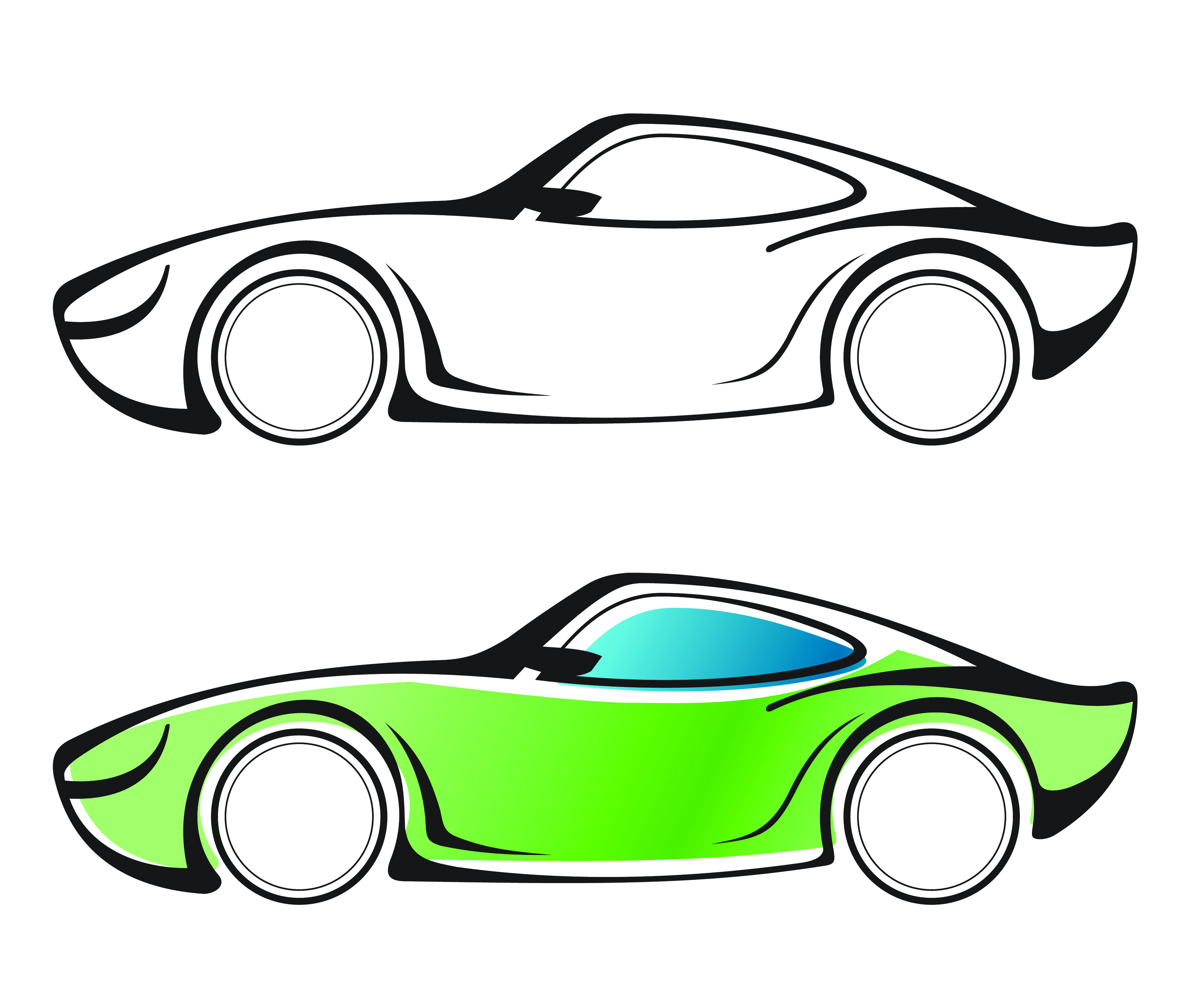 Simple Drawing Of A Race Car