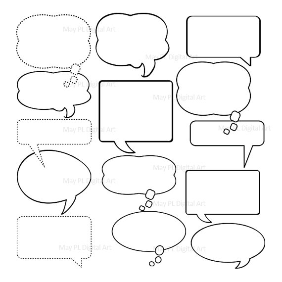 free printable thought bubbles. Black Bedroom Furniture Sets. Home Design Ideas
