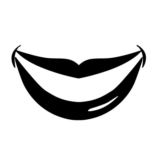 mouth smile clipart black and white clipartsco