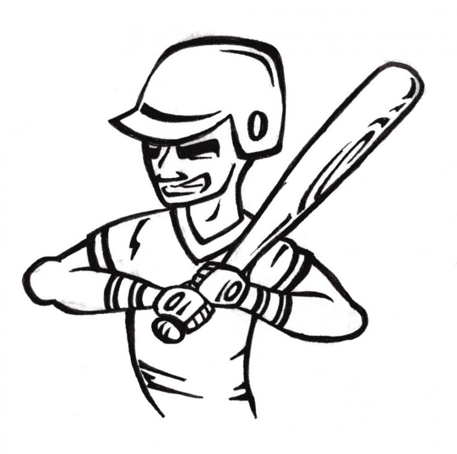 baseball diamond coloring pages - photo#32