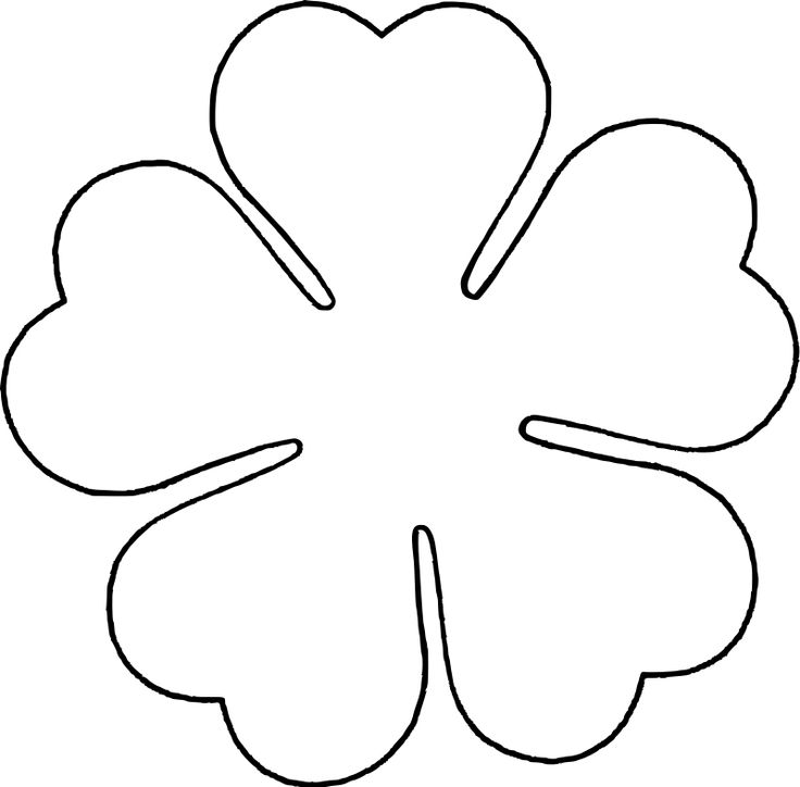 Flower petal template printable for Flower template 5 petals