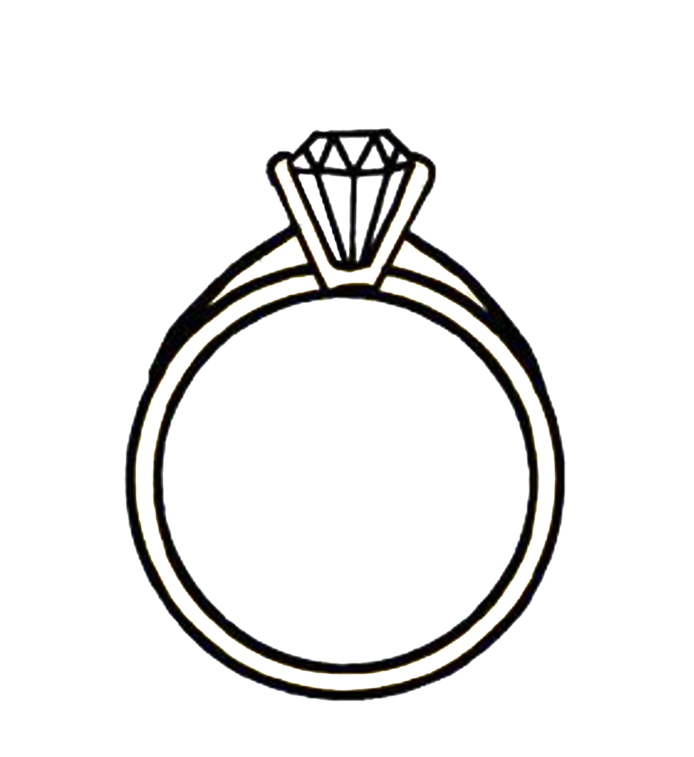 Diamond ring clip art