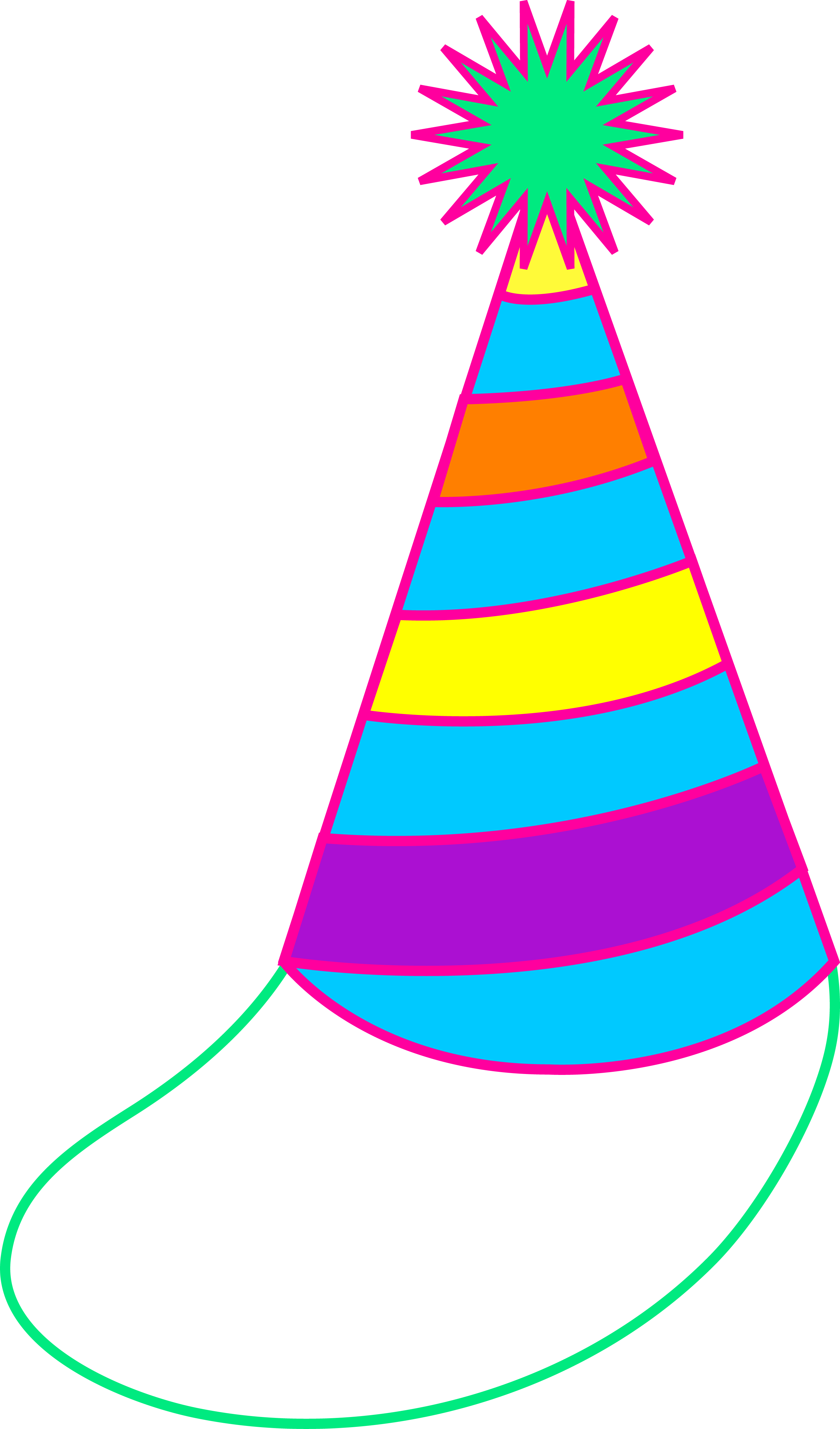 Colorful Party Hat - Free Clip Art