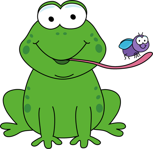 Frog Eating a Fly Clip Art - Frog Eating a Fly Image