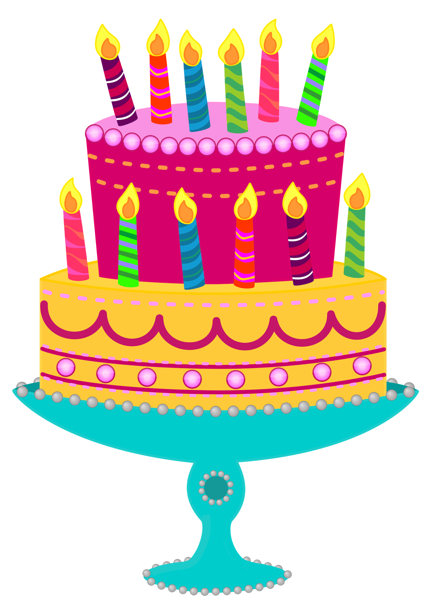 Clipart Real Birthday Cake : Free Birthday Cake Image - Cliparts.co